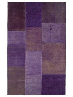 Hand Knotted Rug -- assorted shades of violet/purple/prettyness. [jaipur rugs]