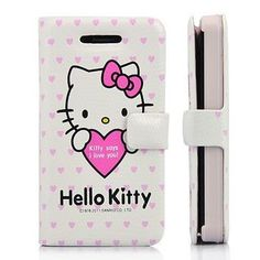 Hello Kitty & Love Wallet Style Leather Case With Magnetic Flip For iPhone 4 and 4S WHITE Iphone 4, Iphone Cases, Hello Kitty Merchandise, Leather Case, Cell Phone Accessories, Apple, Candles, Wallet, Cute