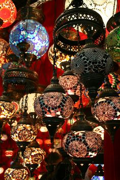 Lamps in the Grand Bazaar Lantern Lamp, Candle Lanterns, Candles, Moroccan Lighting, Moroccan Lamp, Element Lighting, Turkish Lamps, All Of The Lights, Grand Bazaar