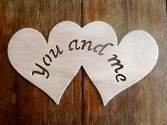 """Beautiful Large Sized Hand Crafted MDF 'Two Love Hearts - You And Me' Drawing Template / Stencil - 10.5"""" X 6"""" by Greg Ledder http://www.amazon.co.uk/dp/B00TDC947Q/ref=cm_sw_r_pi_dp_Ld.Hvb0TCK27Q"""