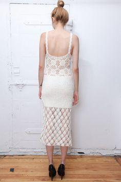 70s Ivory Crochet Bohemian Summer Dress @tarantulasisters Etsy
