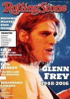 Glenn Frey on the Cover of Rolling Stone Eagles Music, Eagles Band, Eagles Lyrics, Glen Frey, History Of The Eagles, Rolling Stone Magazine Cover, Rip Glenn, Blues Artists, Music Artists