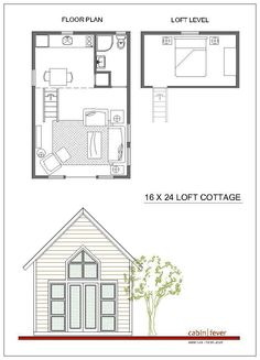 Small cabin design 16 x 24, just right for two - a great idea for a small cabin on the mountain - beautiful piece of land, with space for outdoor living, almost like upscale camping??