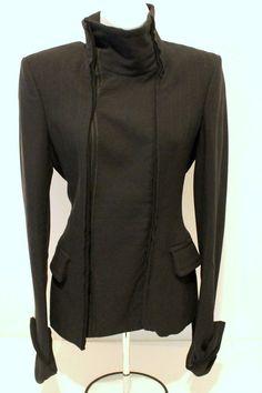 """YSL"" Yves Saint Laurent Vintage Black Jacket 100% Silk Solid Evening  S-36 #YSLYvesSaintLaurent #BasicJacket"