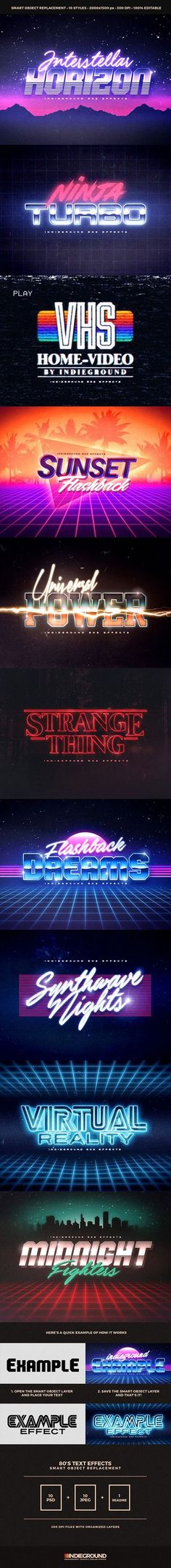 """DOWNLOAD: goo.gl/rkiua480's Retro Text Effects""""Simple & 3d Retro Effect"""" – This graphic resource gives you a quick & easy possibility to apply an high qu..."""