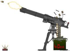 HAC Vanquish 40mm Rotary Grenade Cannon by Lugnut1995.deviantart.com on @DeviantArt