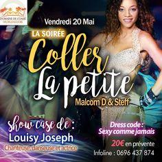 LA SOIRÉE COLLER LA PETITE Vous aussi intégrez vos événements dans l'Agenda des Sorties de www.bellemartinique.com C'est GRATUIT !  #martinique #concert #agenda #sortie #soiree #Antilles #domtom #outremer