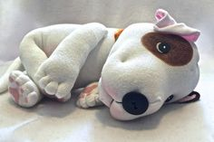 Muffins is a new character at Original Sock Dogs and will be produced in a LIMITED number of 20. She will be made for you after purchasing and shipped in 1-2 weeks.  There arent any great options out there for us Pit Bull lovers who want a sweet plush pittie that captures what we love most about them. Thats why I created Muffins.  Muffins measures about 12 from head to paws and is soft and squishy as only an Original Sock Pit Bull can be. She has hand painted paw pads, a cute button nose and…