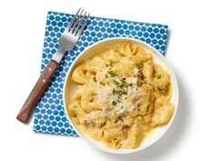 Get Tortellini With Pumpkin Alfredo Sauce Recipe from Food Network