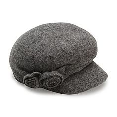 009644cee19 Attention Women s Felted Rosette Cabbie Hat - Clothing