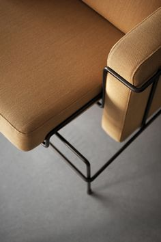 Traffic armchair Yellow fabric / Dark brown structure | Armchair Magis