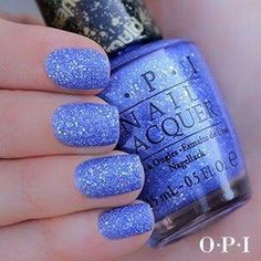 Periwinkle glittery nails. Sparkle. Pretty nails.
