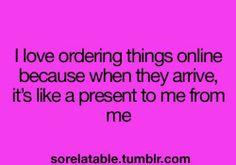 Ordering things online..