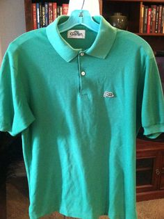 Vintage Garan Green Pique Polo/Golf Shirt 1970's by PDeeVintage, $6.65