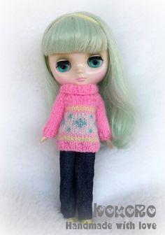Blythe Middie Cardigan/Sweater by kokorogumis on Etsy, $12.00