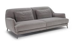 "Don Giovanni - Natuzzi Italia $$$$ Dimensions: 92""w x 41""d x 17/31""h Light Grey Fabric"