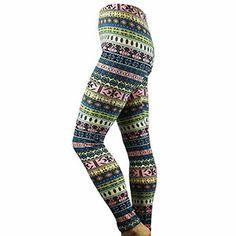 Southwestern Print Leggings Green and Peach $9.99 Print Leggings, Peach, Spring, Green, Pants, Fashion, Printed Leggings, Trouser Pants, Moda