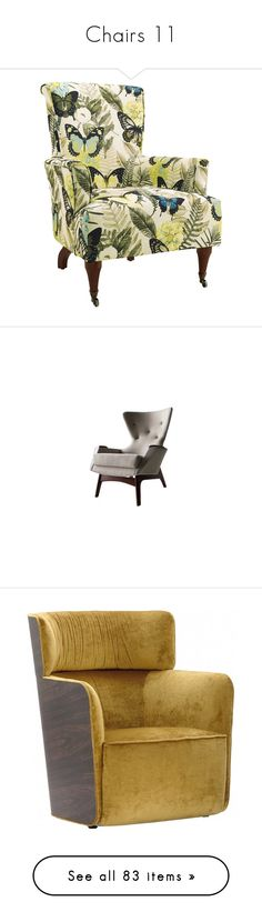 """""""Chairs 11"""" by mysfytdesigns ❤ liked on Polyvore featuring home, furniture, chairs, accent chairs, tropical furniture, flexible chair, black arm chair, black chair, black armchair and black accent chair"""