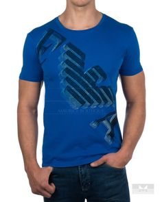 2a3ba3c463f7 Camisetas Emporio Armani - Azul Electrico