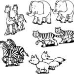 Online Coloring Pages Of Animals - Online Coloring Pages Of Animals , 30 Free Printable Geometric Animal Coloring Pages Zoo Animal Coloring Pages, Online Coloring Pages, Coloring Pages For Kids, Coloring Sheets, Coloring Books, Kids Colouring, Animals Images, Zoo Animals, Animals For Kids