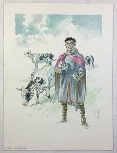 Catawiki, pagina di aste on line  Hermann - Disegno originale - Les tours de…