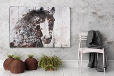 Gorgeous Brown Horse. Large Brown Rustic Horse by irenaorlov