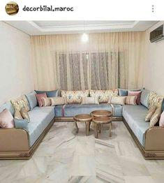 The whole view of the Moroccan living ✨✨✨ Le salon marocain en entier ✨✨✨ Interior Design Living Room, Living Room Decor, Moroccan Home Decor, Classic Living Room, Sofa Set, Home Furnishings, Home Furniture, House Styles, Agadir