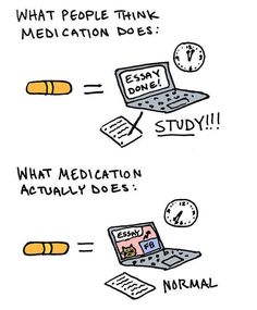 Medication may help, but not really in the way that most people assume:
