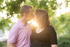 Orlando Maternity Session - Corner House Photography - Orlando Maternity Photographer - parents to be kissing in the sunlight