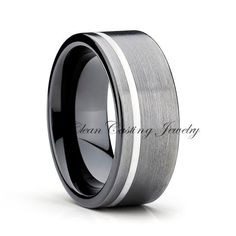 Gunmetal Tungsten Wedding Band,Tungsten Wedding Ring,Black Tungsten Ring,Anniversary Band,Custom Tungsten Band,Comfort Fit,Tungsten Carbide