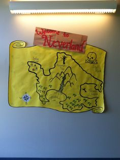 Peter Pan themed floor. Welcome sign. - created by Kay Rarick