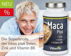 "Maca Plus Kapseln - Die ""Powerknolle"" der Inkas plus Selen, Zink, Vitamin B6 für mehr ""Manneskraft"""