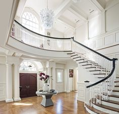 """Downton Abbey worthy entry hall"" by Jay Gleysteen architecture and designer Kate Coughlin, near Boston. New Enlgand Home."