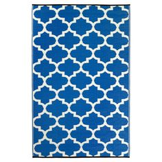 Fab Habitat Tangier Recycled Plastic Rug, Regatta Blue & White, x - Works as designed and well built.This Fab Habitat that is ranked 9134 in the list of