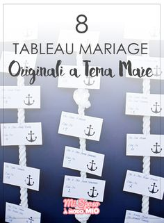 Tableau mariage a tema mare originali per matrimonio. Clicca sulla foto per vederli tutti! Wedding place settings. #misposoamodomio #wedding #tableau #navy #sea #place settings