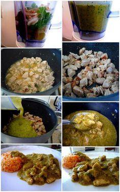 Cortadillo en salsa verde  receta Mexican Dishes, Mexican Food Recipes, Dinner Recipes, Dinner Ideas, Spanish Recipes, Pork Recipes, Cooking Recipes, Cooking Ideas, Food Ideas