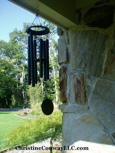 Adding a wind chime to your front is great feng shui! Then every time you hear in ring you can think of good positive things coming your way. I think of the angels and fairies delivering great things to my life. Feng Shui Wind Chimes, Feng Shui Principles, Positive Things, Fairies, The Outsiders, Angels, Ring, Image, Design