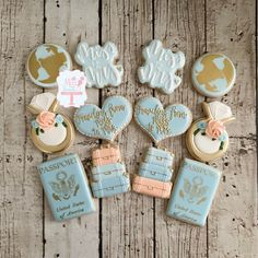 Traveling From Miss To Mrs Bridal Shower Cookies Adventure | Etsy