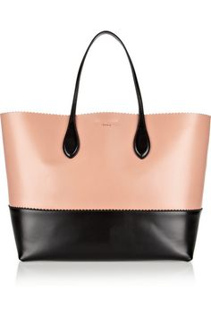 two-tone leather tote / rochas
