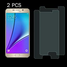 [$1.39] 2PCS 0.26mm 9H+ Surface Hardness 2.5D Explosion-proof Tempered Glass Film for Samsung Galaxy Note 5 / N920