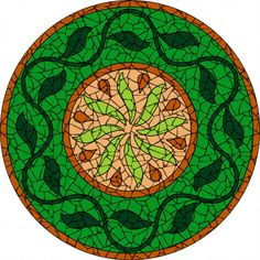 Completed indian flowers black mosaic mandala kit created in ceramic tiles Design by Brett Campbell Mosaics