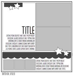 paper: pretty paper. true stories. {and scrapbooking classes with cupcakes.}: Sketch to Scrapbook Page :: Adapting a page sketch for Project Life