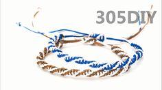 [305DIY]더블 평돌기 매듭팔찌만들기,double twist square knot friendship bracelets DIY...