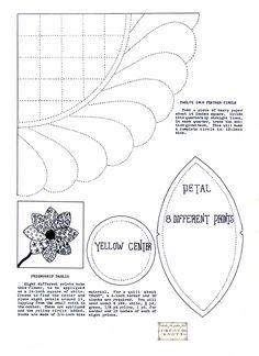 Dahlia Applique Quilting Pattern