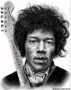 Jimi Hendrix drawing gif