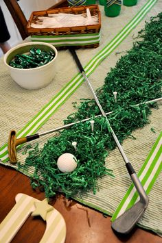 Table centerpiece (or table runner) for a golfer