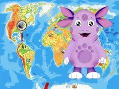 Лунтик - География Южная и Северная Америка, география для детей - YouTube