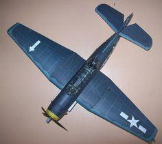 237 1:33 Detail version WWII Grumman TBM Avenger Paper Model PDF File