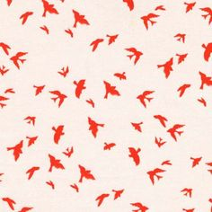 Flight in Clementine from Waterfront Park by Violet Craft for Michael Miller Fabrics Stash Fabrics, Michael Miller Fabric, Fabulous Fabrics, Bird Feathers, Pattern Wallpaper, Baby Quilts, Baby Love, Print Patterns, Kids Rugs