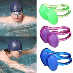 Sale 14% (1.99$) - Silicone Soft Swimming Nose Clip With Case Adult Kids Water Sports Pool Accessories